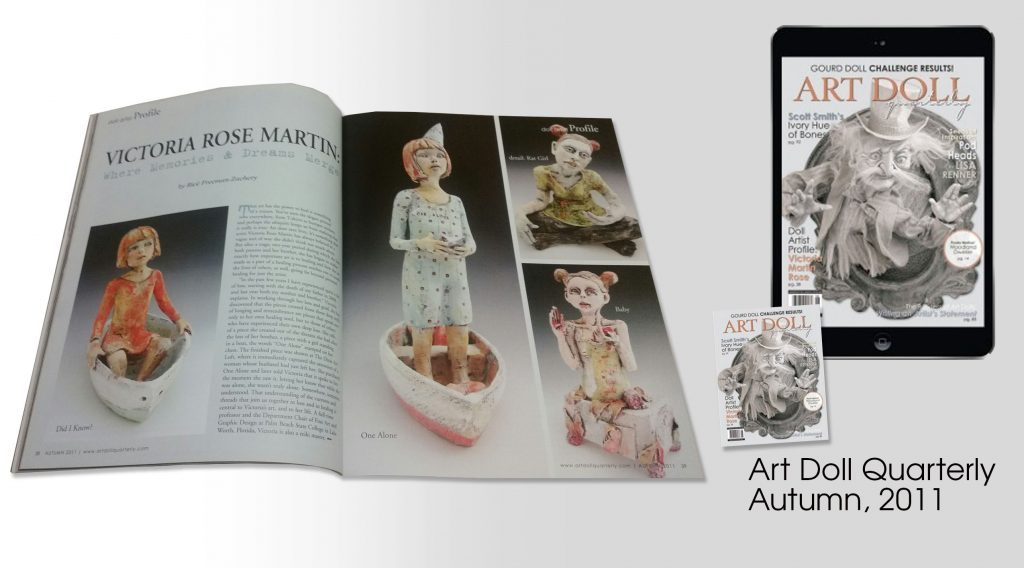 victoria rose martin feature article in Art Doll Quarterly magazine