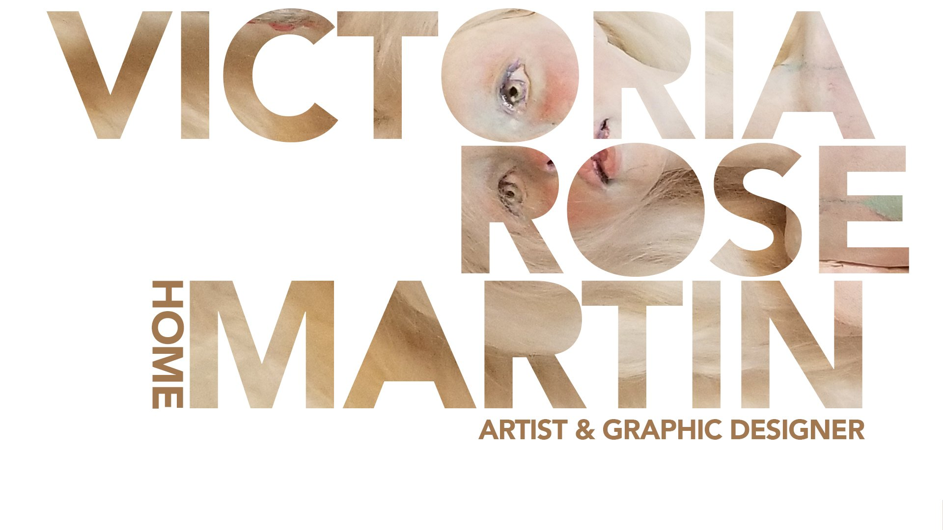 home page of artist and graphic designer Victoria Rose Martin, professor of art palm beach state college